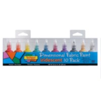 Scribbles® 3D Fabric Paint 10-pack - Iridescent
