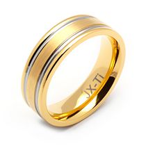Rex Rings Gold Plated Titanium Ring 8