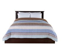 Red Label Blue Stripe Printed Comforter