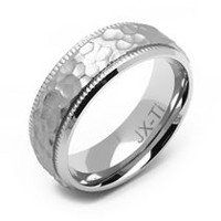 Rex Rings Titanium Ring with Hammered Finish 15