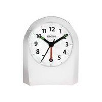 Elgin Analog White Battery Operated Alarm Clock
