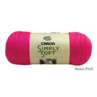Caron 288 Meters Simply Soft Yarn Neon Pink