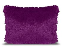 Mainstays Kids Shag Fur Purple Decor Pillow