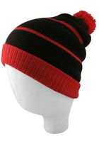 Hot Paws Men's Relaxed Fit Knit Hat Black/Red