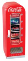 Coca-Cola 10 Can AC/DC Retro Vending Electric Cooler (0.64 Cubic Foot/18 Liters)