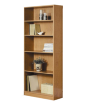 Mainstays 5 Shelf Bookcase Oak