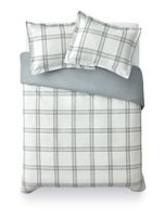 Mainstays Gray Plaid Duvet Set Double/Queen