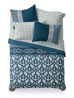 Mainstays Bed-in-a-Bag Blue Scroll Bedding Set Queen