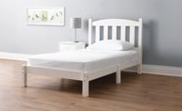 Mainstays Twin Wood Bed, White