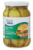 Great Value Sandwich Sliced Dill & Garlic Pickles