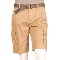 George Men's Belted Cargo Shorts Taupe 44