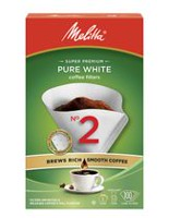 Melitta Pure White Smooth Cone Coffee Filters