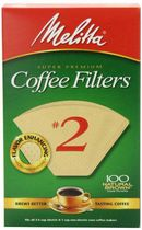 Melitta Natural Brown #2 Coffee Filters
