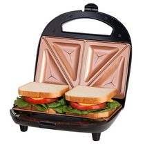 Gotham Steel Dual Electric Sandwich Maker and Panini Grill with Ultra Nonstick Copper Surface