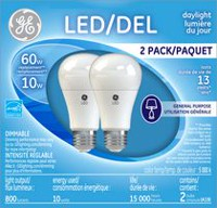 GE Lighting A19 10W LED Daylight Dimmable Bulb