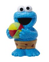 Sesame Street - Figurines pour le bain Cookie Monster