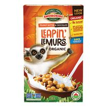 Nature's Path Envirokidz Gluten Free Leapin' Lemurs Peanut Butter and Chocolate Cereal
