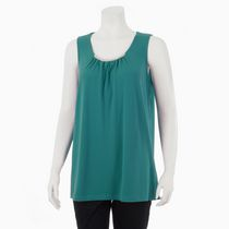George Women's Dressy Tank with Metallic Accent Teal M/M