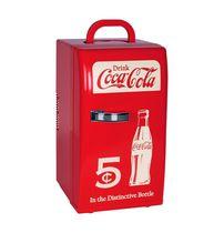 Mini réfrigérateur Coca-Cola de style rétro 12V DC / 110V AC (0,8 pied cube / 22 litres)