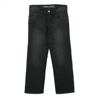 George Boys' Straight Jean Black 6