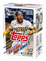 2021 Topps Series 2 Baseball Trading Cards Blaster Box - 1 exclusive Relic Box Carte d'article fabriqué