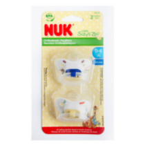 NUK Little Suzy Zoo Pacifiers Sz1 2Pk