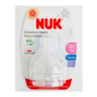 NUK Wide Neck Nipples FF Sz2 2Pk