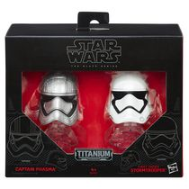 Star Wars The Force Awakens Black Series Die Cast Phasma and Flametrooper Action Figure