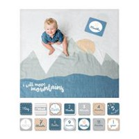 Lulujo - Baby's 1st Year - I Will Move Mountains Blanket and Cards Set