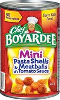 Chef Boyardee® Mini Pasta Shells and Meatballs In Tomato Sauce