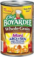 Chef Boyardee® Mini ABC's and 123's with Meatballs In Tomato Sauce