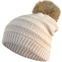 Hot Paws Women's Knit Tuque Ivory