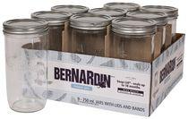 Bernardin 750 mL Wide Mouth Mason Jars with SNAP LID® Sealing Disc