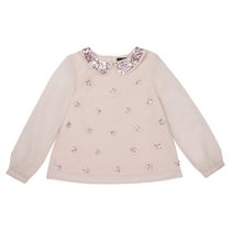 George British Design Girls' Long Sleeve  Sequin Star Woven Top 12