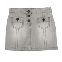 George Girls' Denim Skirts Gray 16
