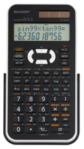 SHARP Calculatrice scientifique EL546XBWH