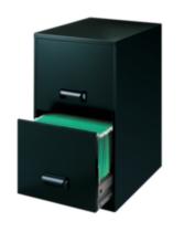 2-Drawer Cabinet, Black