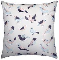hometrends Flock Print Decorative Pillow