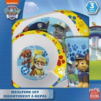 PAW Patrol 3-Piece Dinnerware Set for Girls