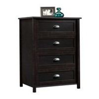 Sauder, 4 Drawer Chest, Estate Black Finish, 415844
