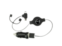 reVIVE pro - Car Charger with Retractable Mini & Micro USB Cable