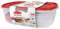 RUBBERMAID 36 PIECE TAKEALONG FOOD STORAGE SET
