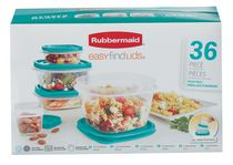 ENSEMBLE DE CONTENANTS EASY FIND LIDS DE RUBBERMAID - 36 PIÈCES