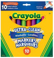 Crayola Ultra-Clean Washable Broad Line Markers - Bold