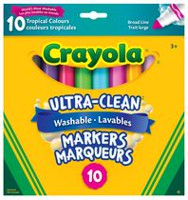 Crayola Marqueur à trait large lavable Ultra-Clean, couleur tropicale