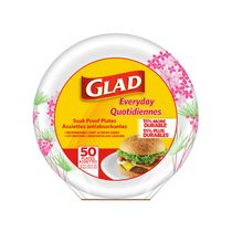 Glad Soak Proof Round Disposable Paper Plates