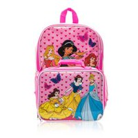 f56b2f842a38 Disney Princess Backpack with Lunch Bag. Size 16 Inch