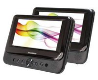 "Sylvania SDVD8739 7"" Dual Screen Portable DVD Player"