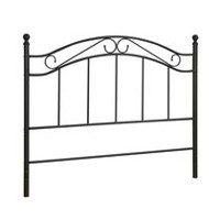 mainstays black metal headboard