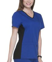 Scrubstar Women's Premium Collection Flexible V-Neck Scrub Top Blue L
